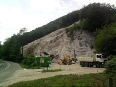 kamnolom bela izkop peska